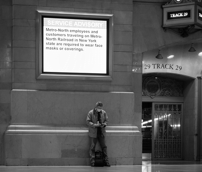 Grand Central Station During the COVID Crisis, Saturday Morning, April 25, 2020