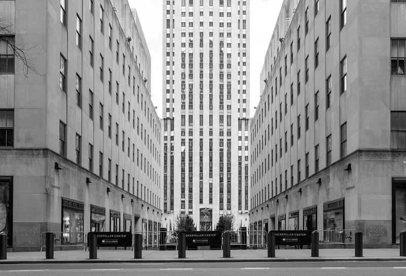 Rockefeller Center During the COVID Crisis, Saturday Morning, April 25, 2020