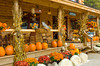 The Mountain Memories gifts and home decor store decorated in fall in Wells, New York, USA