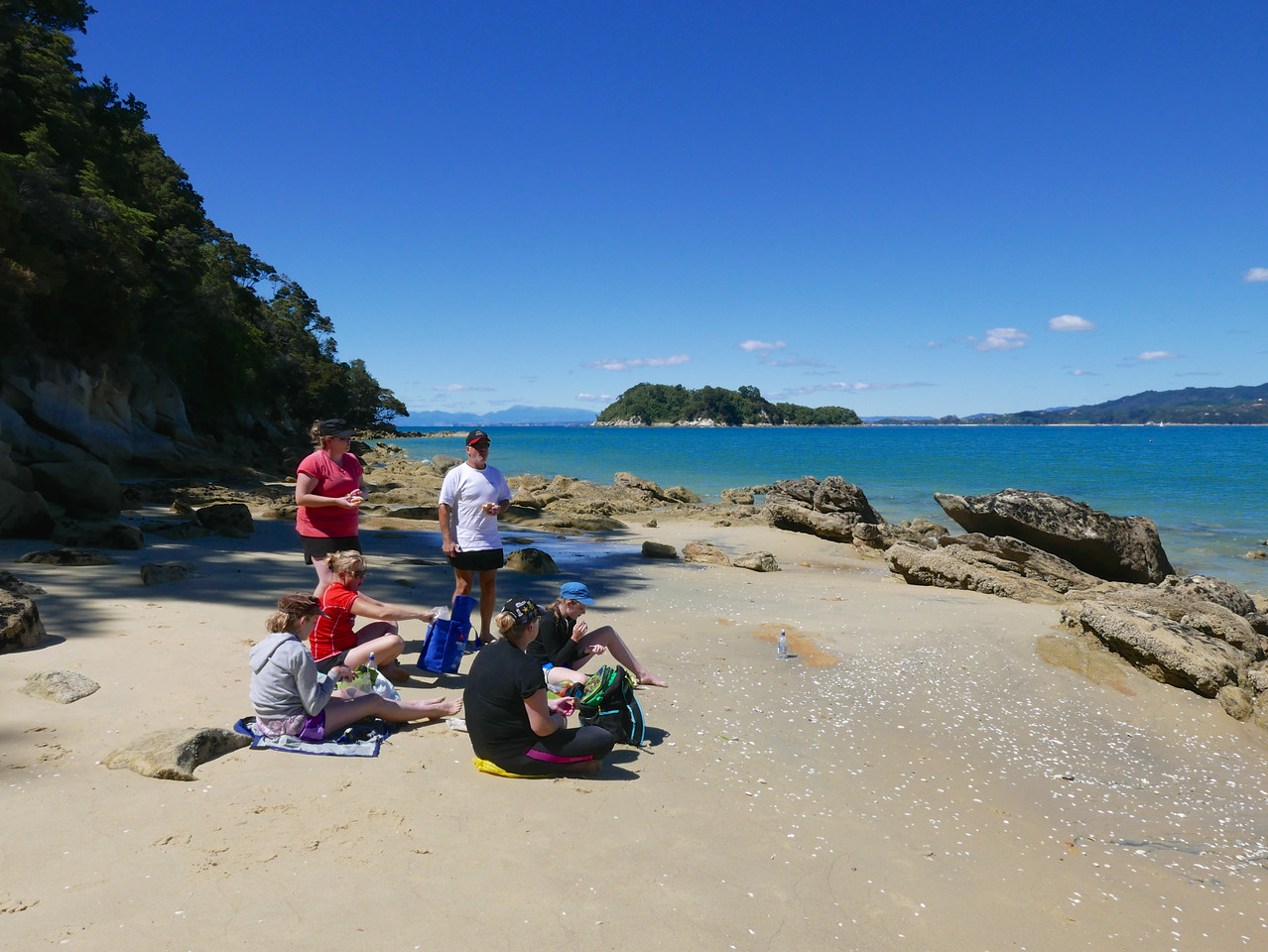 Meg Jan Kim Robert Emma Kelly Abel Tasman Kayaking January 2016