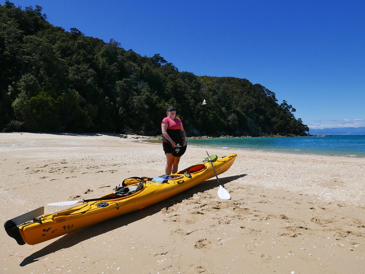 Kim Abel Tasman Kayaking January 2016