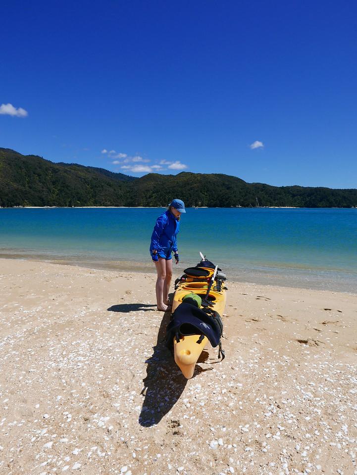 Emma Abel Tasman Kayaking January 2016