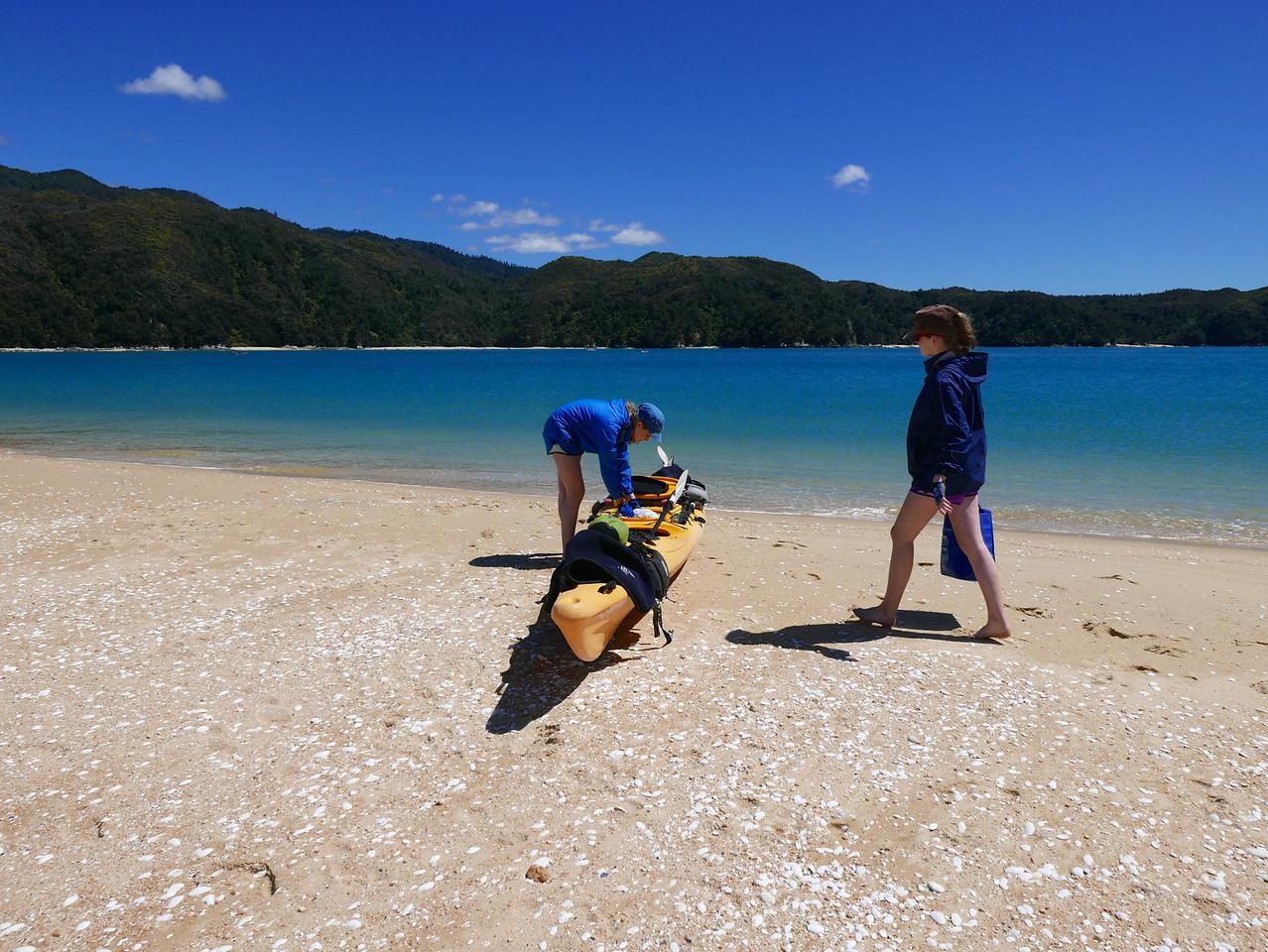 Meg Emma Abel Tasman Kayaking January 2016