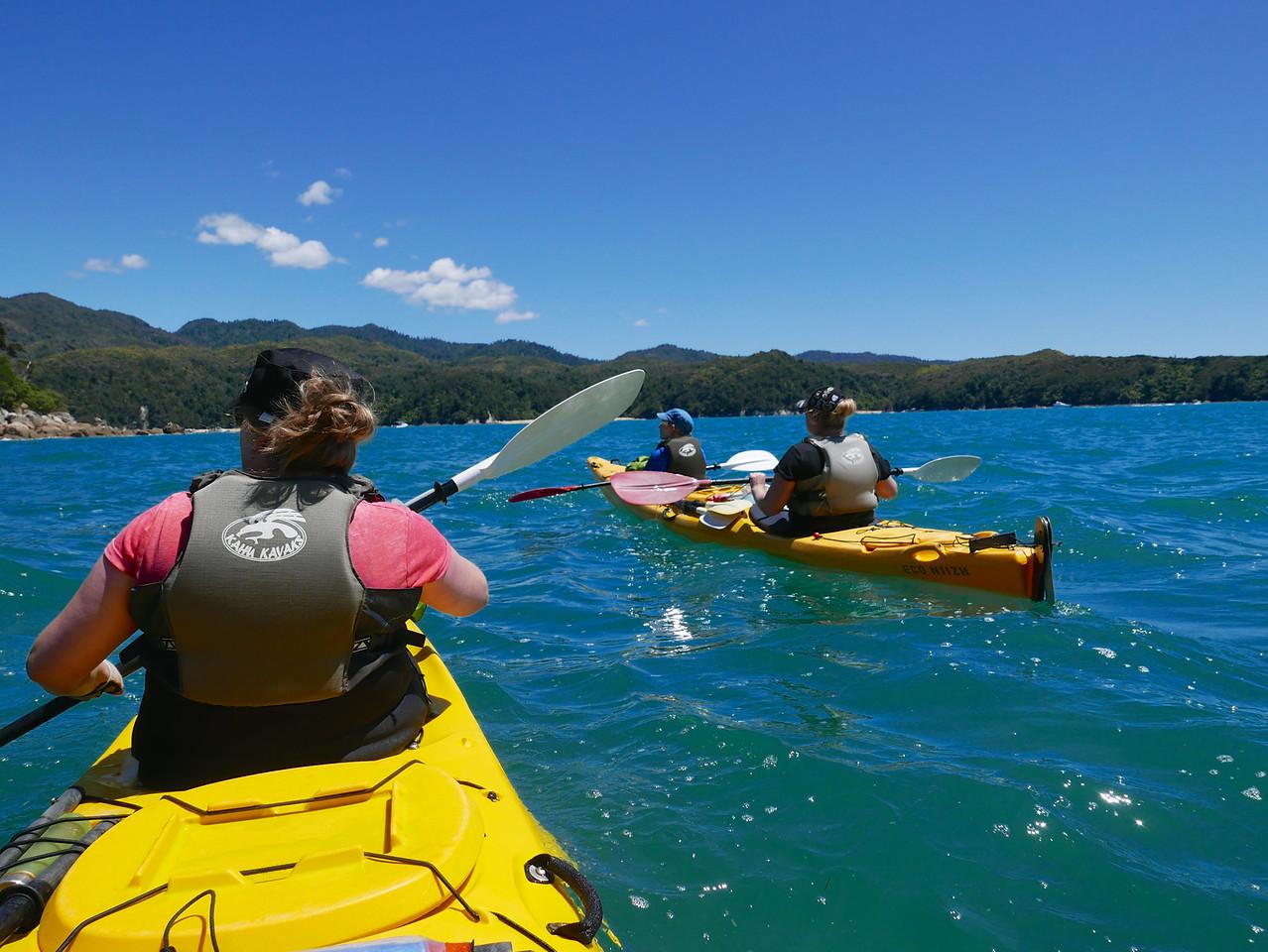 Kim Kelly Emma Abel Tasman Kayaking January 2016