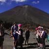 Phoebe Jason James Gemma Ayla Bella Emma Meg Mt Ngauruhoe Tongariro Alpine Crossing Summer January 2016