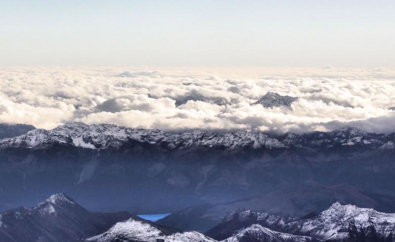 Ariel view of Mt. Aspiring National Park near Queenstown, New Zealand.