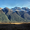 Fiordland National Park in New Zealand along Rt. 94.
