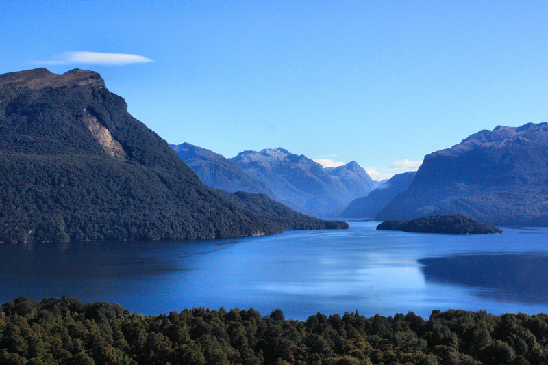 Beautiful Doubtful Sound near Te Anau from Queenstown to Milford Sound, New Zealand.
