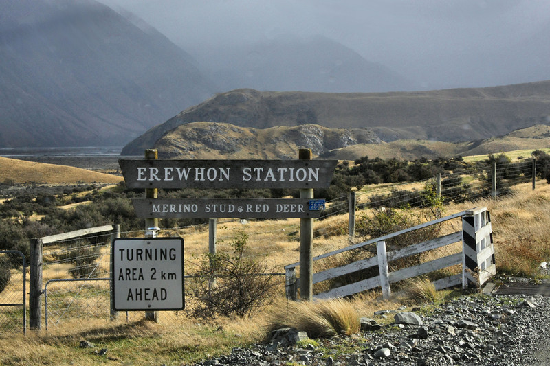 """Erewhon, otherwise known as the middle of """"nowhere"""" spelled backwards in Canterbury, New Zealand. To the left out of view is Edoras, and Helms Deep is in the valley. You can see the hill where Aragorn rode in on his horse when he spotted Helms Deep."""