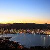 Wellington, New Zealand from atop Mt. Victoria at sunset.