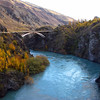 "Kawarau River outside of Queenstown, New Zealand along Route 6.  Just under the bridge is the ""River Anduin"" where the ""Pillar of the Kings"" appeared in the Fellowship of the Ring."