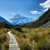 Hooker Valley Trail in Aoraki / Mt. Cook National Park, New Zealand.