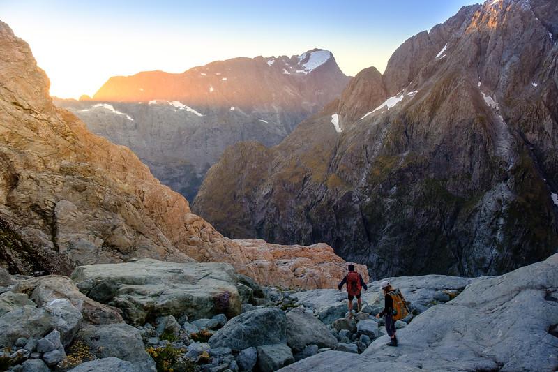 Descending Fiordland's most rugged terrain - the Darran Mountains