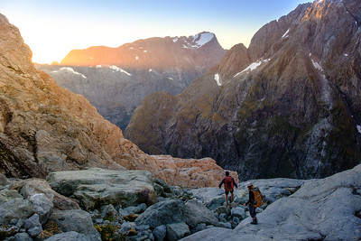 Descending Fiordland's most rugged terrain - the Darran Mountains