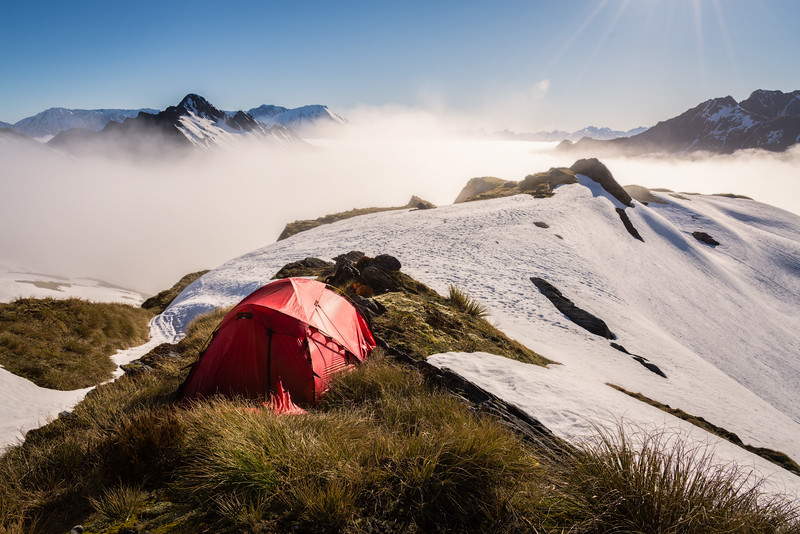Camp Above the Clouds in Rugged South Westland