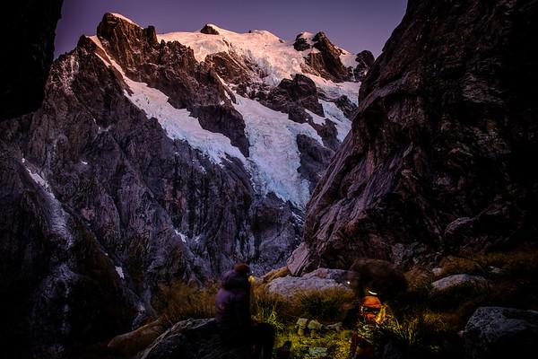 Alpen Glow on Mount Tutoko