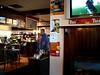 Sports bar, Kiwi style.  Cricket on the TV.