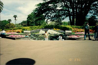 Auckland: Albert Park - floral clock
