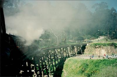 Travel to Healesville: Puffing Billy steam train