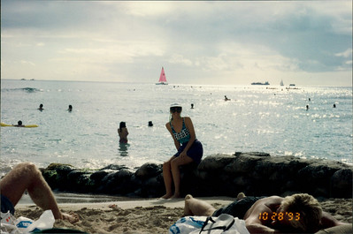 Honolulu: Waikiki Beach - posing