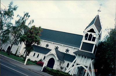 Christchurch: St. Michael and All Saints Anglican Church - white timber