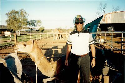 Alice Springs: camel ride - nice headwear