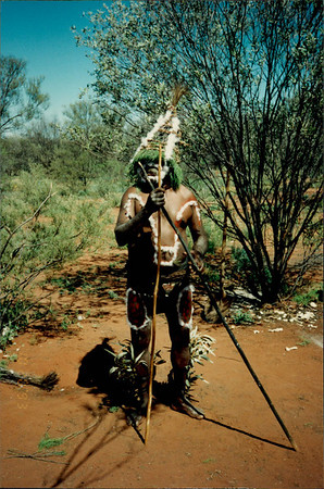 Alice Springs: Dreamtime and Bushtucker Tour - Aboriginal man in ceremonial dress
