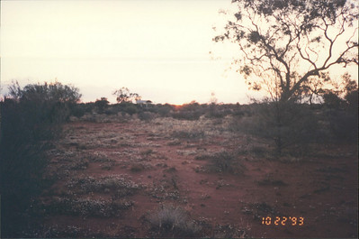 Ayers Rock: sunset at the Olgas