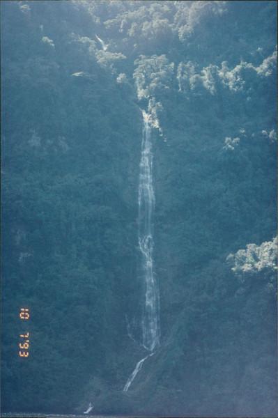 Cruising in Doubtful Sound: waterfall