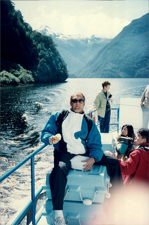 Cruising in Doubtful Sound: lunch