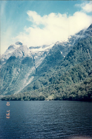 Cruising in Doubtful Sound: mountainside
