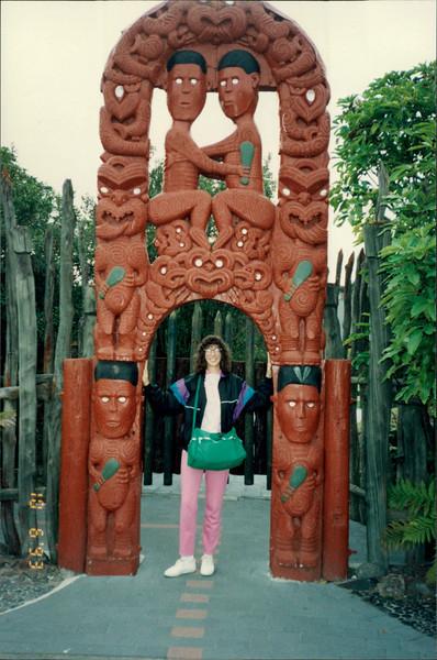 Rotorua: Maori Arts and Crafts Institute - craft work by young Maori