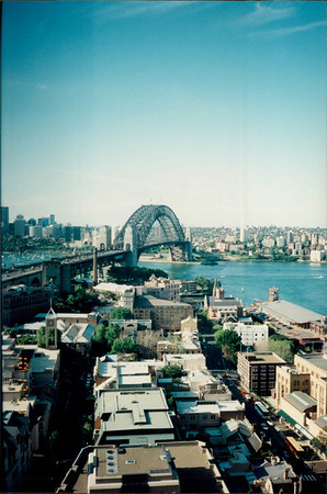 Sydney: Regent Sydney - view of Harbour Bridge from hotel room