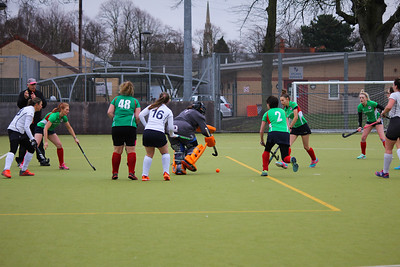 Newarks Ladies have a shot on target 260120PN2-2