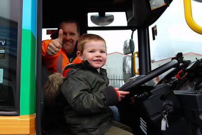 Harvey Robinson 3, Enjoys riding in the new Bin Lorry 260120PN1-1