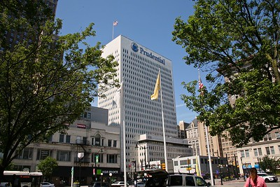 The Prudential Plaza in Downtown Newark