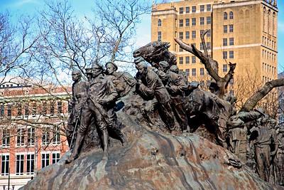 """Wars of America"" Monument in Military Park, Newark, NJ"