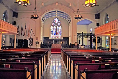 Interior of Trinity and St. Philip's Cathedral in Newark, NJ