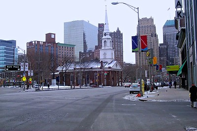 Downtown Newark with Military Park and Trinity Cathedral