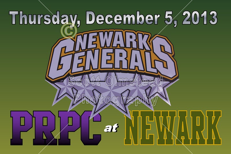 Thursday, December 5, 2013 - PRPC Prowlers at Newark Generals