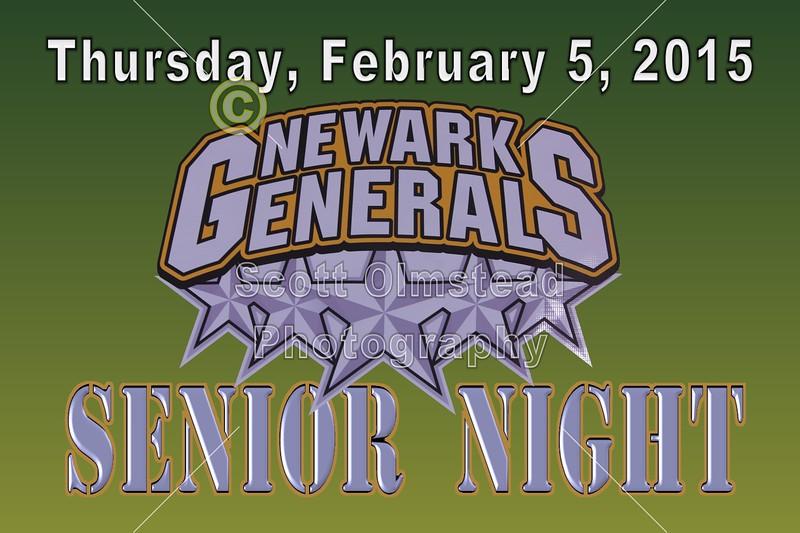 Athens Bobcats at Newark Generals - Thursday, February 5, 2015 - Senior Night