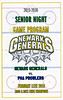 Official Game Program -  Senior Night - PHA Prolwers at Newark Generals - Greater Columbus High School Club Hockey League - Thursday, February 11, 2016
