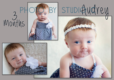 Audrey 3 month collage