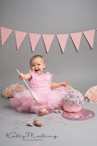 gorgeous baby girl cake smash photo shoot, Preston, Lancashire
