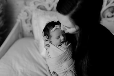 00136©ADHphotography2020--BlaineSchutz--Newborn--March2bw