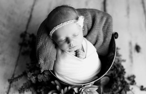 00128--©ADHPhotography2020--MaddynSharp--Newborn--February21bw