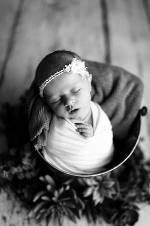 00119--©ADHPhotography2020--MaddynSharp--Newborn--February21bw