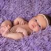 Newborn on blanket
