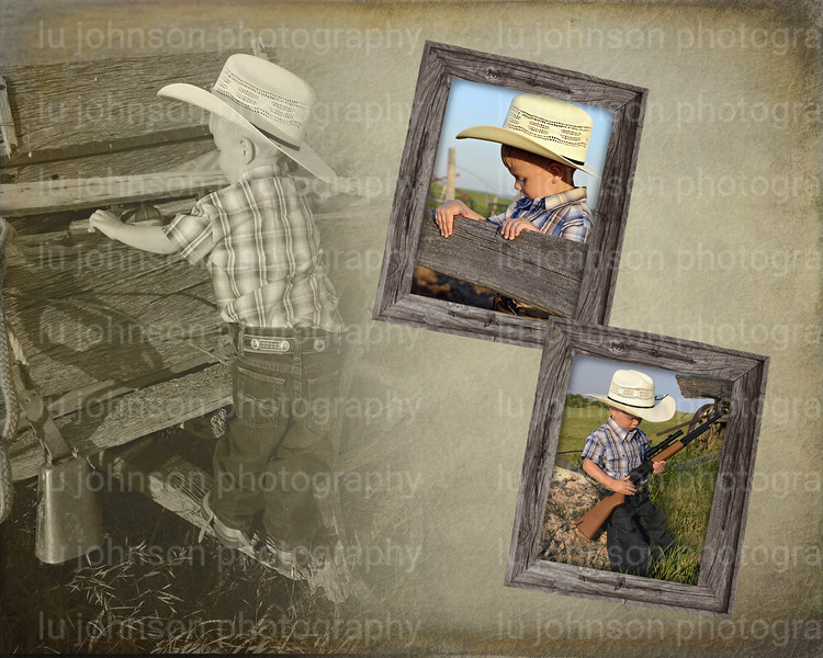 8x10 Brody Triple woodframe    The reason I wanted to do the frames like the one above is because I have the real frames just like them...would be neat to frame it with the same frame with barbed wire...  but I can order them in any shape or size if you like them...They are pretty western though...don't know if that's what you like or not.  Just an idea...