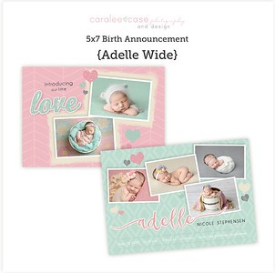 Caralee Case 3x3 Photobooks and Birth Announcements
